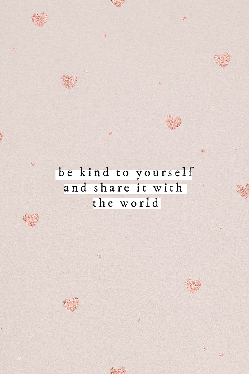 Be kind yourself and share it with the world quote social media template
