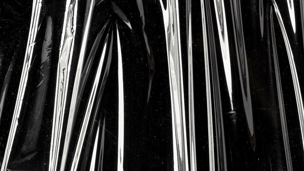 Wrinkled shinny plastic wrap texture wallpaper