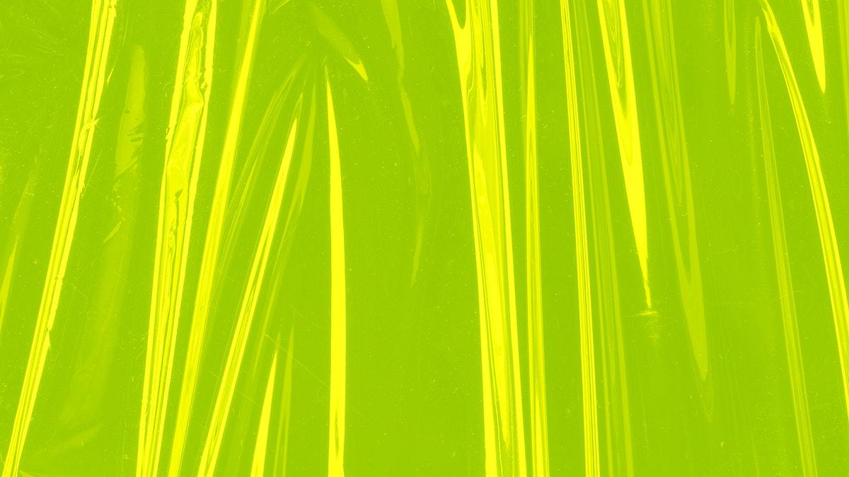 Plastic texture neon green wallpaper