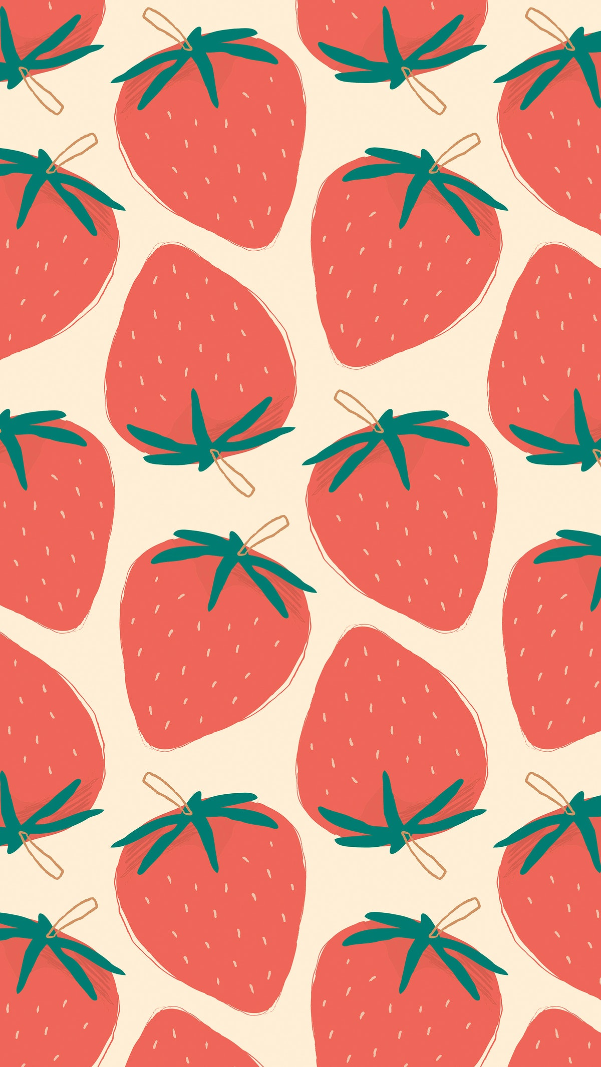Cute Strawberry Fruit Pattern Pastel Background The pink lady with the pink dog. download premium illustration of cute strawberry fruit pattern pastel