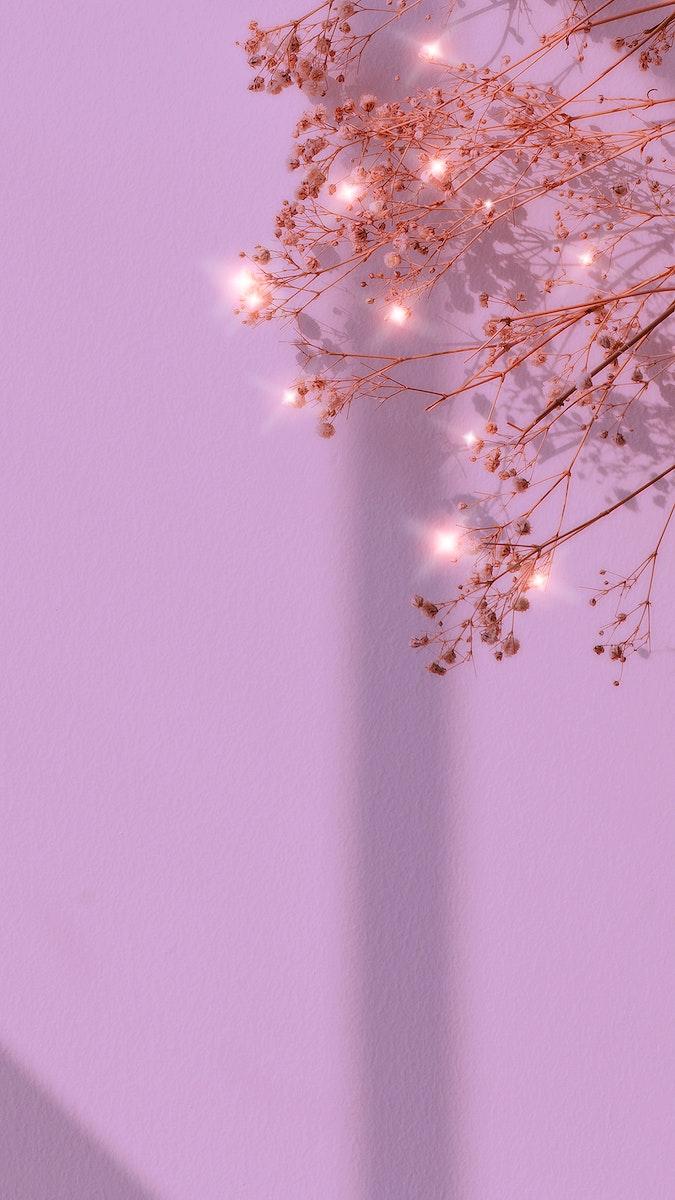 Purple sparkle dried flower background image