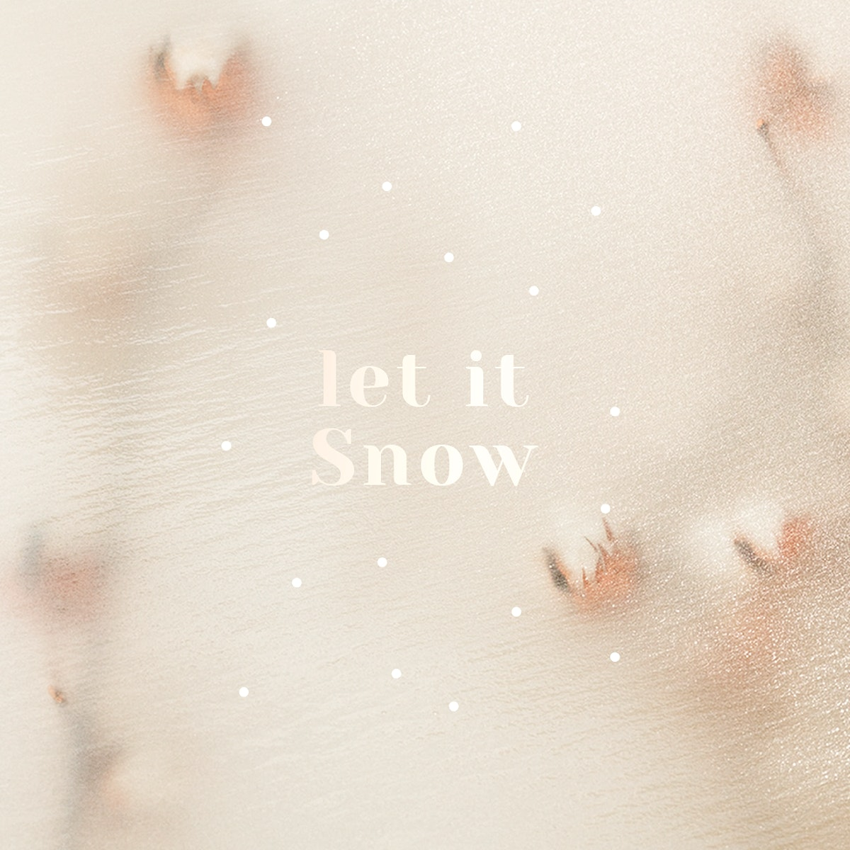 Let it snow psd blurry cotton decorated background