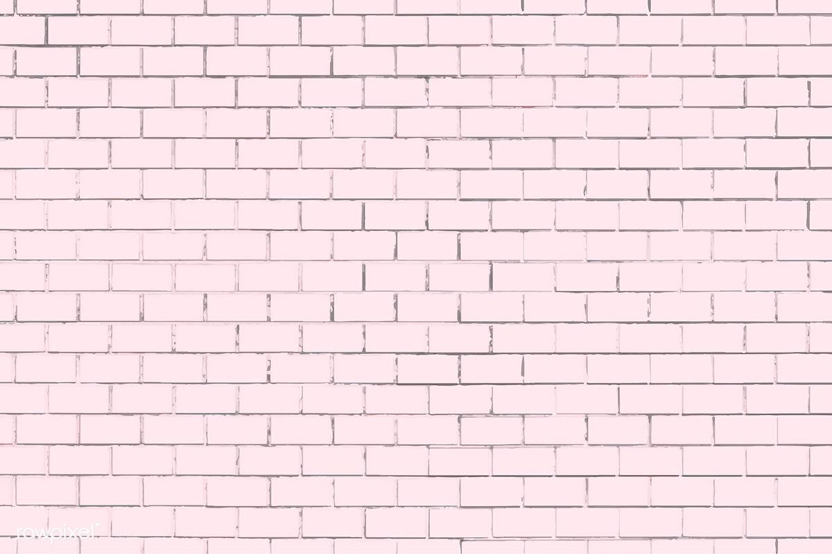 Pink brick wall background | Free stock illustration - 915723