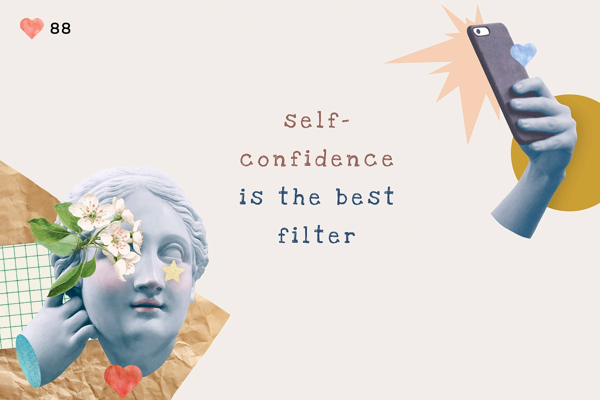 Self-love quote aesthetic social media banner