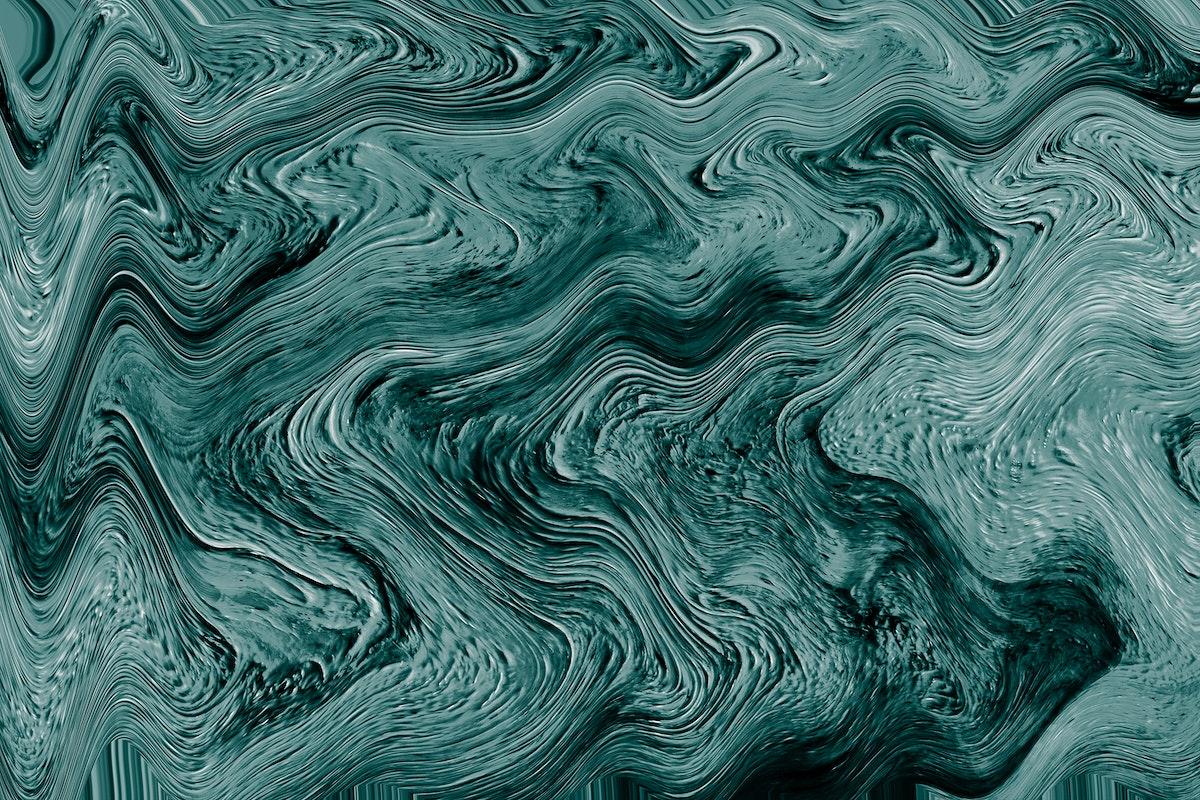 Green fluid art marbling paint textured background