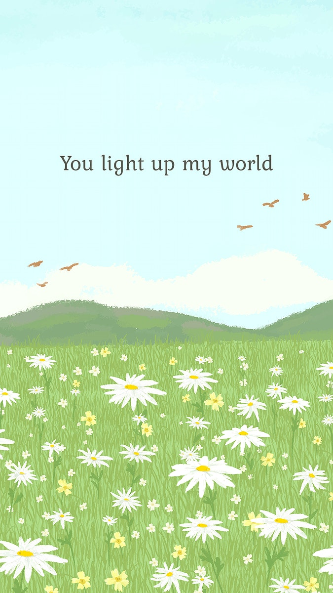 Editable cute quote template psd with you light up my world text