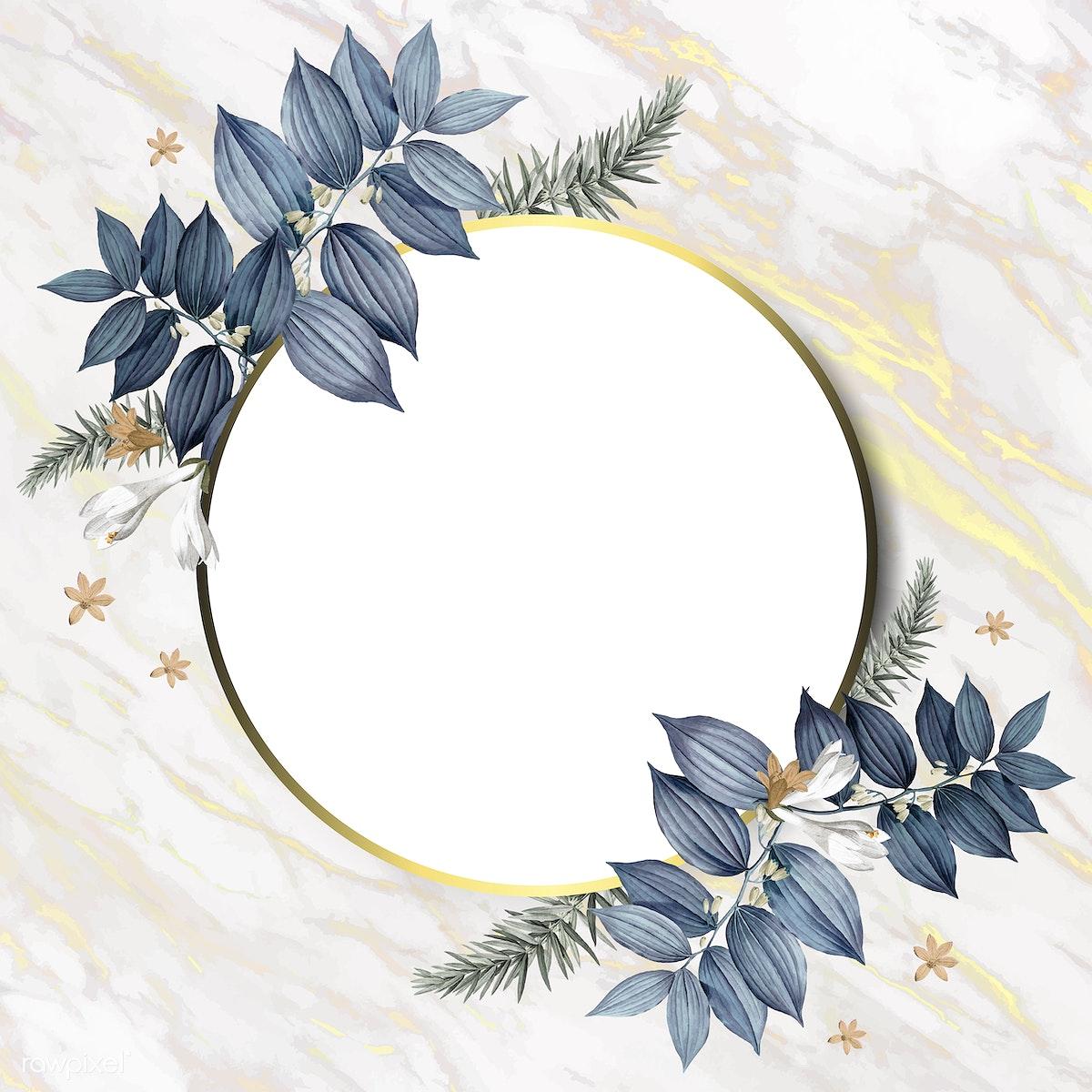 Download premium illustration of Luxurious floral wedding frame vector