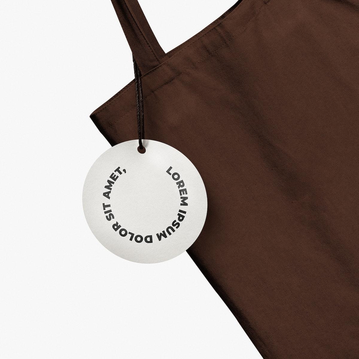 Tote bag mockup psd and tag label