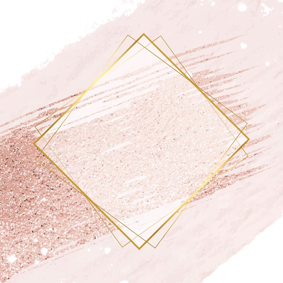 Gold rhombus, Vector rhombus frame, gold element frame, rhombus frame