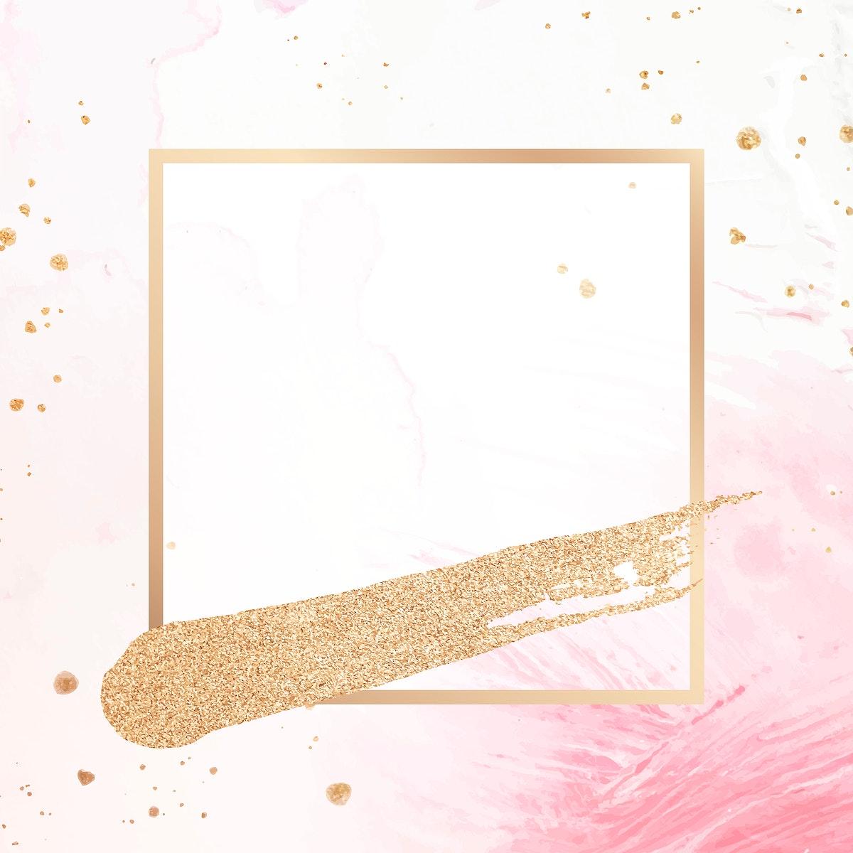 sticker, frame, pink, banner