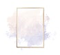 Gold frame on a pastel pink and purple background