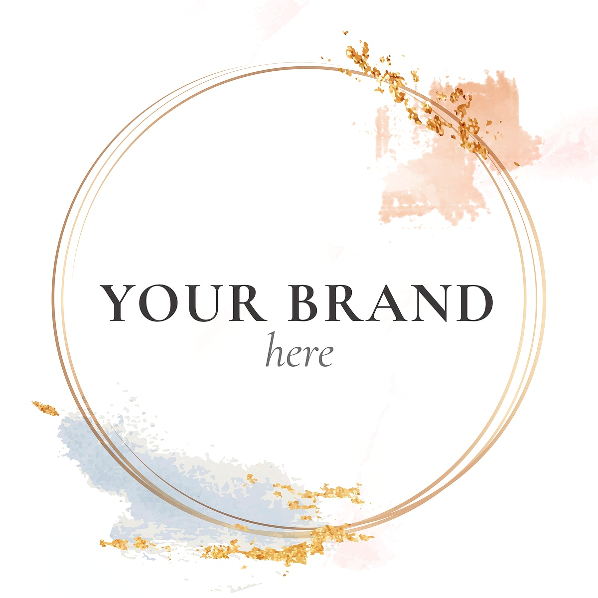 Your Brand here frame mockup vector