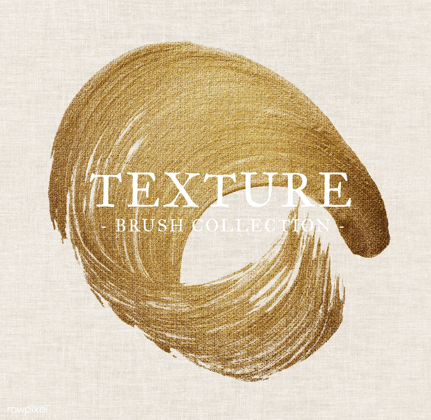 Download premium psd of Gold oil paint brush stroke texture on a colored
