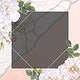 Frame on a marble background with musk rose vector