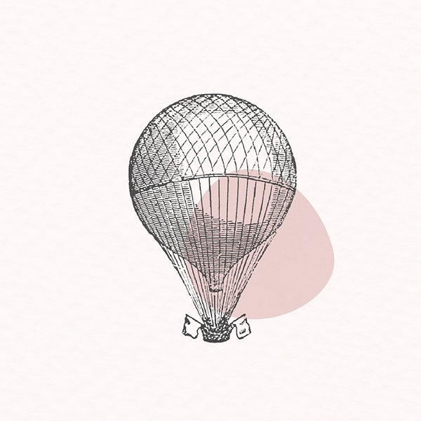 The Best Hot Air Balloon Illustration Vintage PNG