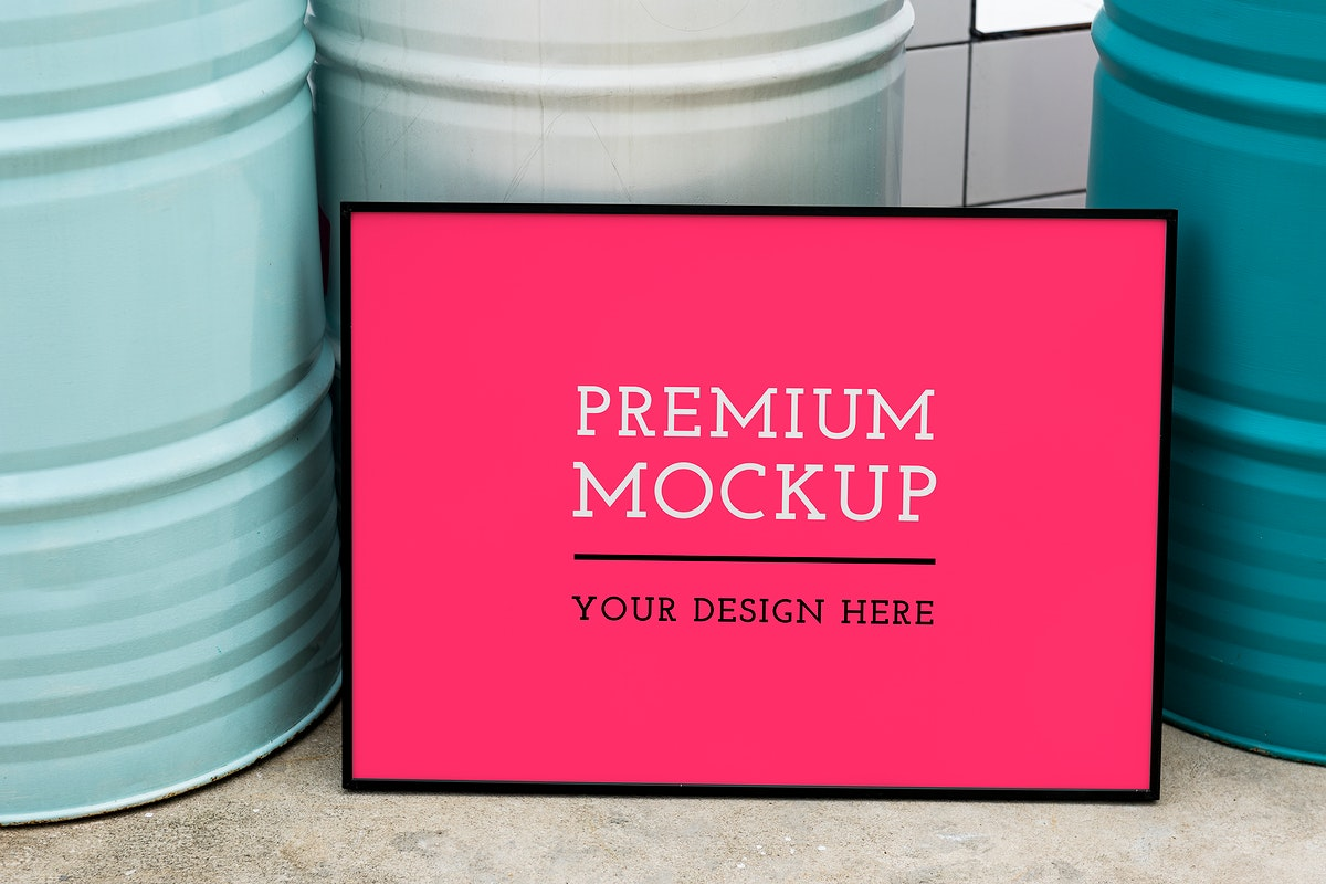Premium mockup board by the canisters