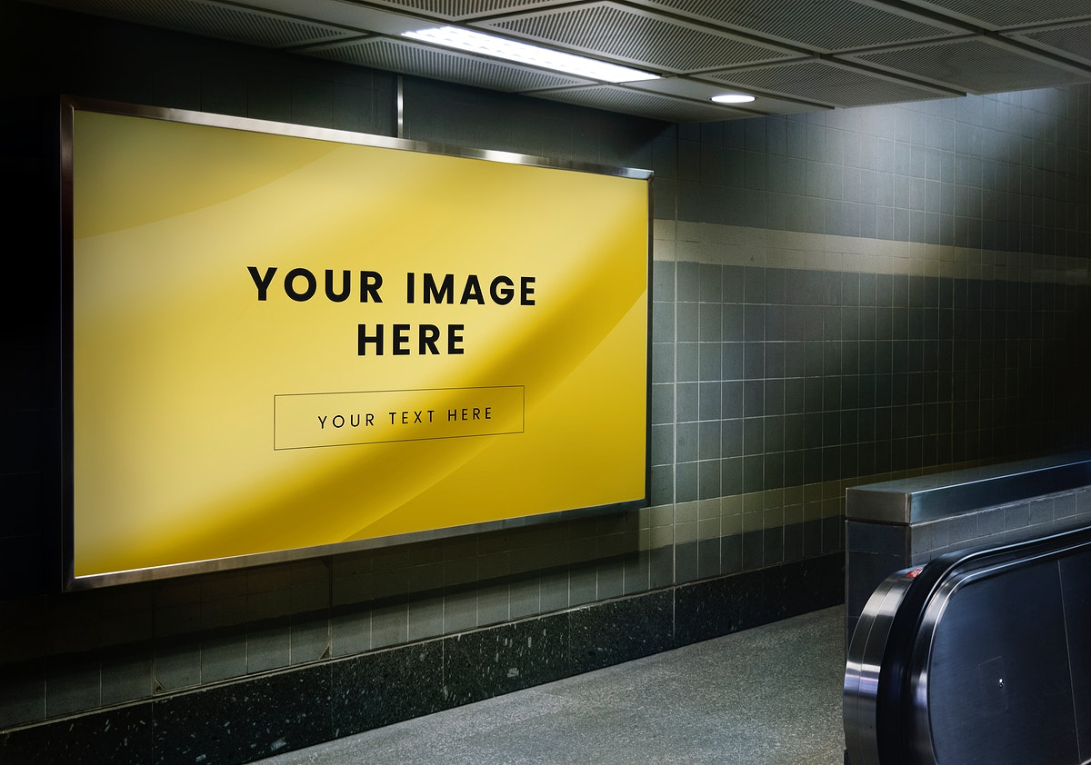 Mockup of an advertisement billboard