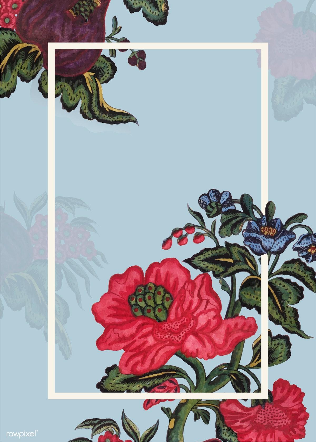 Download premium illustration of Elegant floral wedding frame vector 844189
