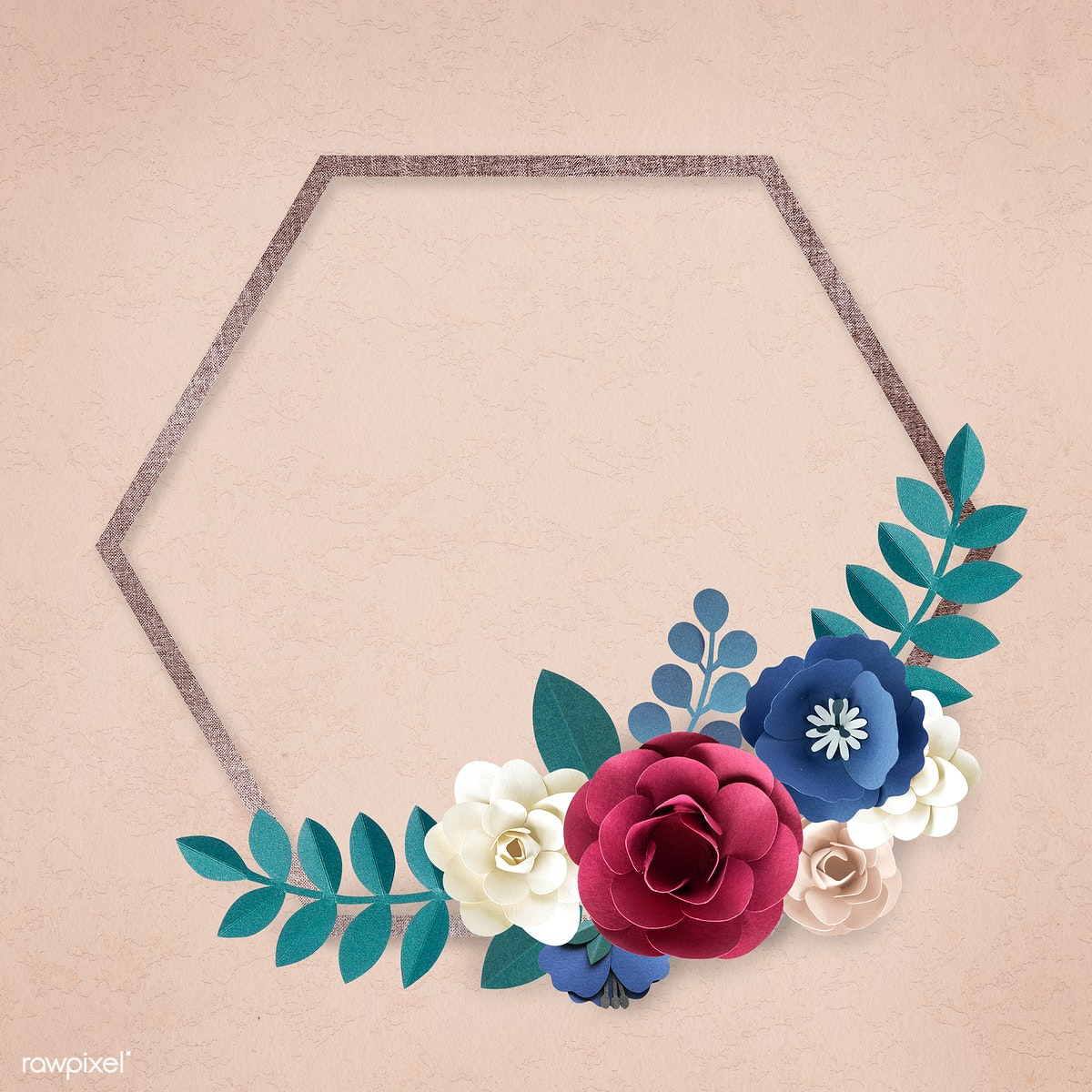 Blank Floral Frame Royalty Free Stock Illustration 845653