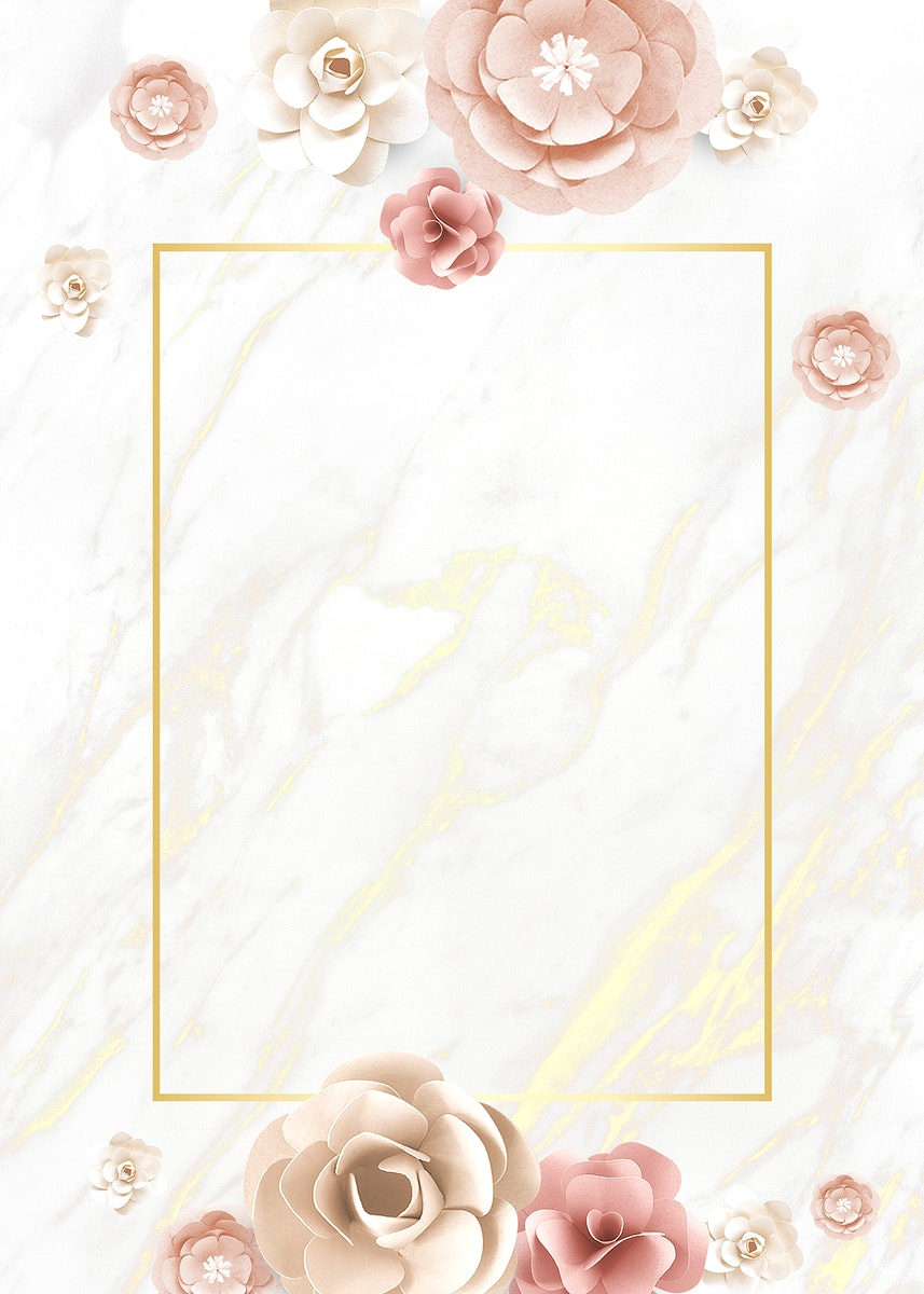 Paper craft flower element card template vector