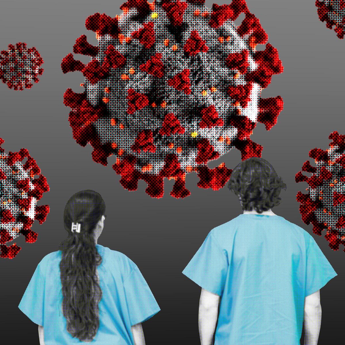 Medical staff against coronavirus pandemic