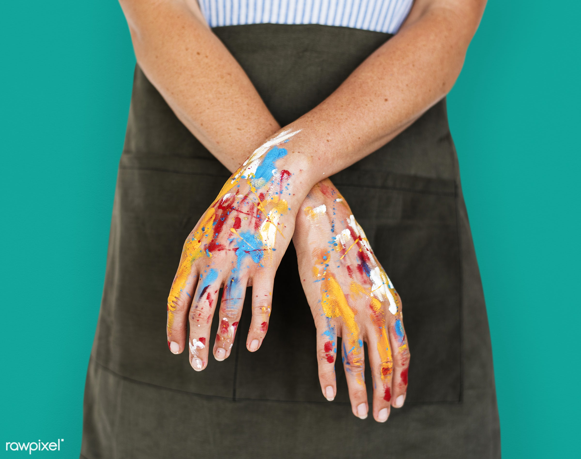 studio, person, model, race, people, style, solo, woman, lifestyle, casual, feminism, isolated, green, gesture, paint,...