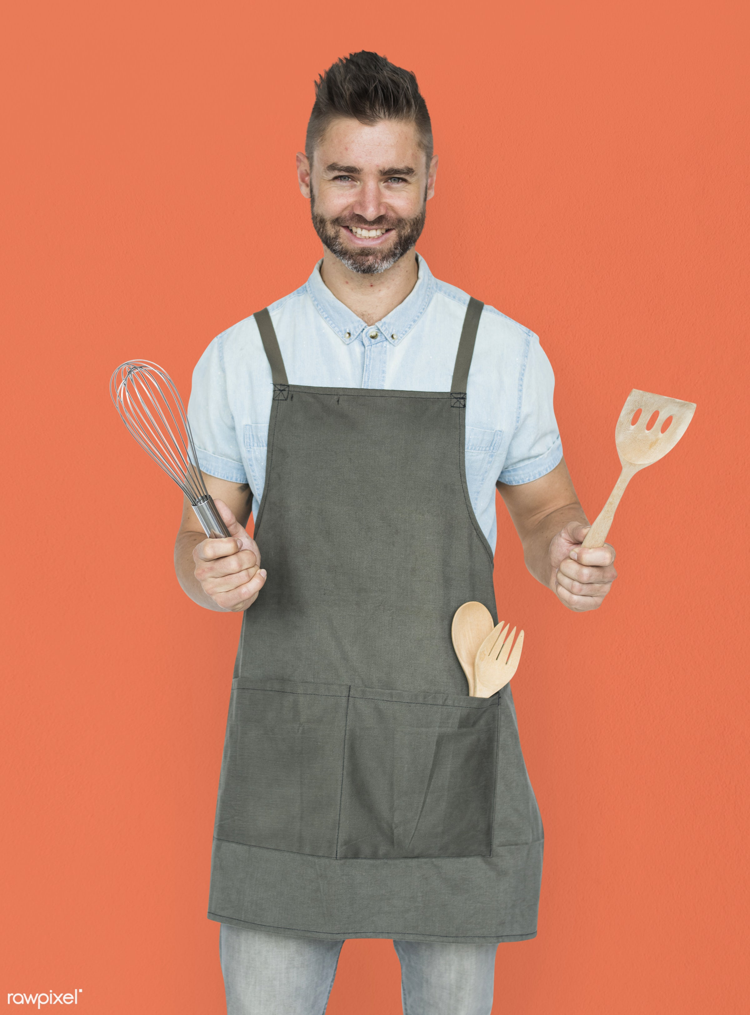 studio, person, model, race, people, style, solo, casual, lifestyle, cooking, man, orange, isolated, guy, male, gesture,...
