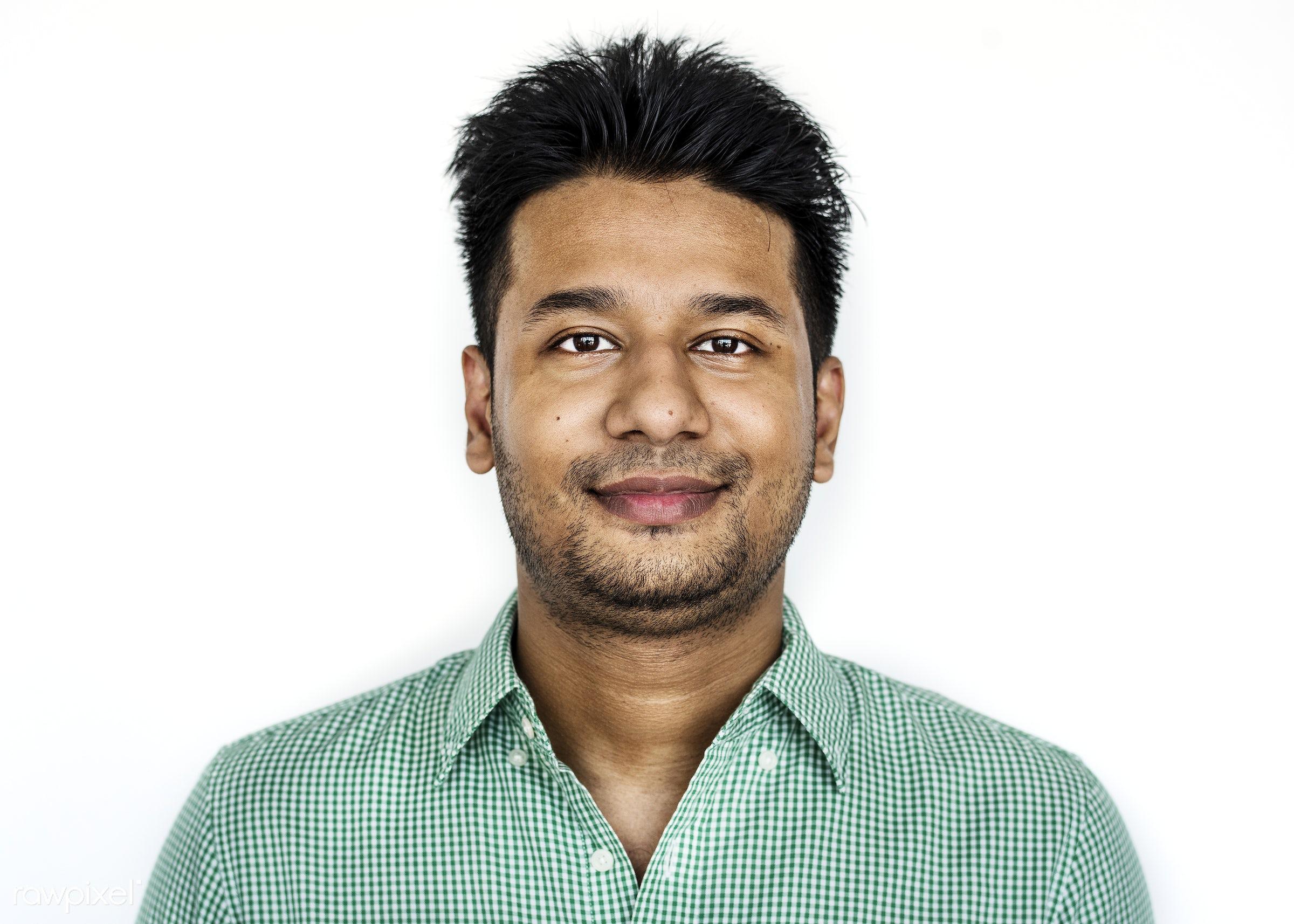 Portrait of a Bangladeshi man - portrait, bangladesh, face, adult, alone, asia, asian, bangladeshi, beard, casual, cheerful...