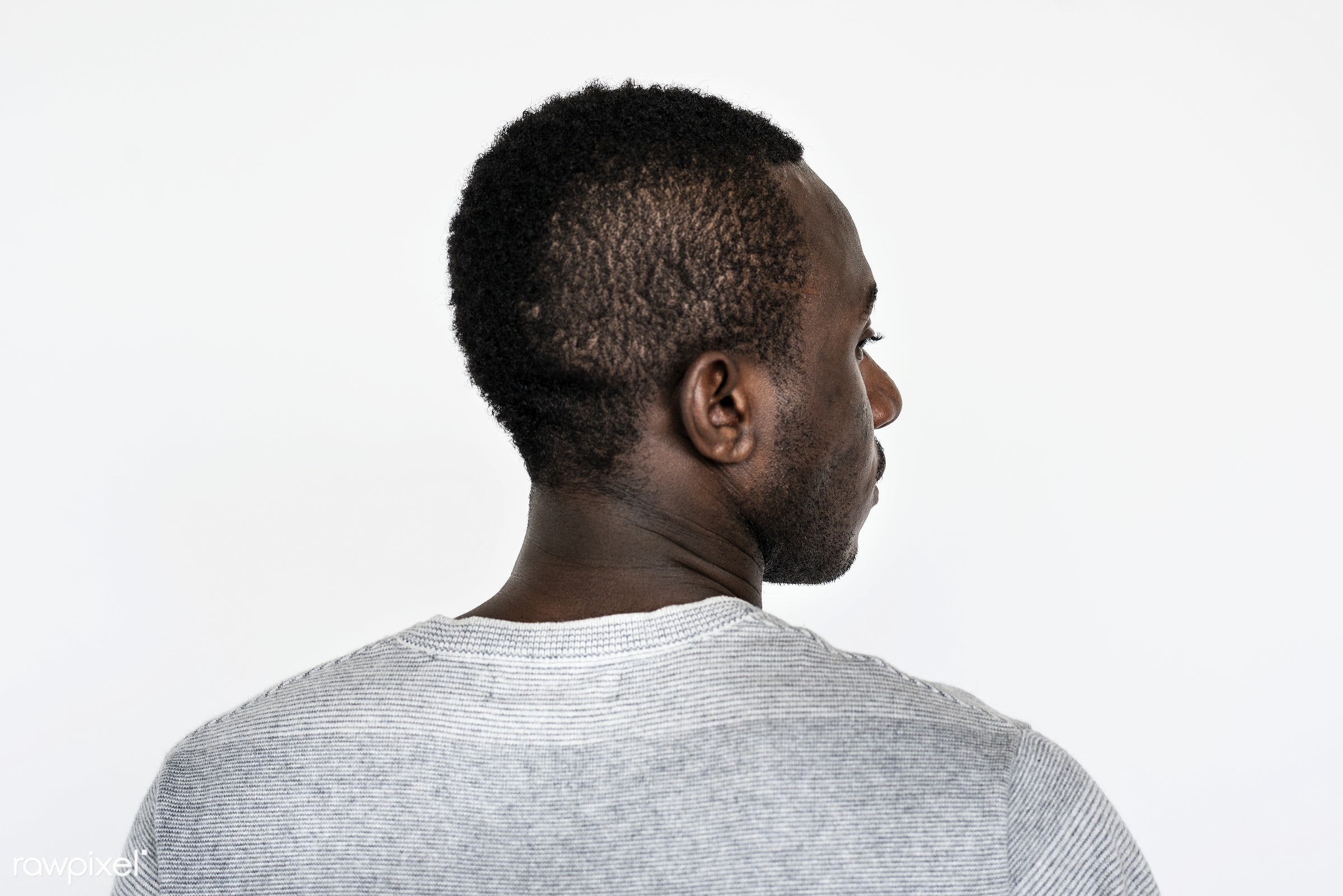 Portrait of a Ghanaian man - adult, africa, african, african descent, alone, back, black, casual, closeup, expression, face...