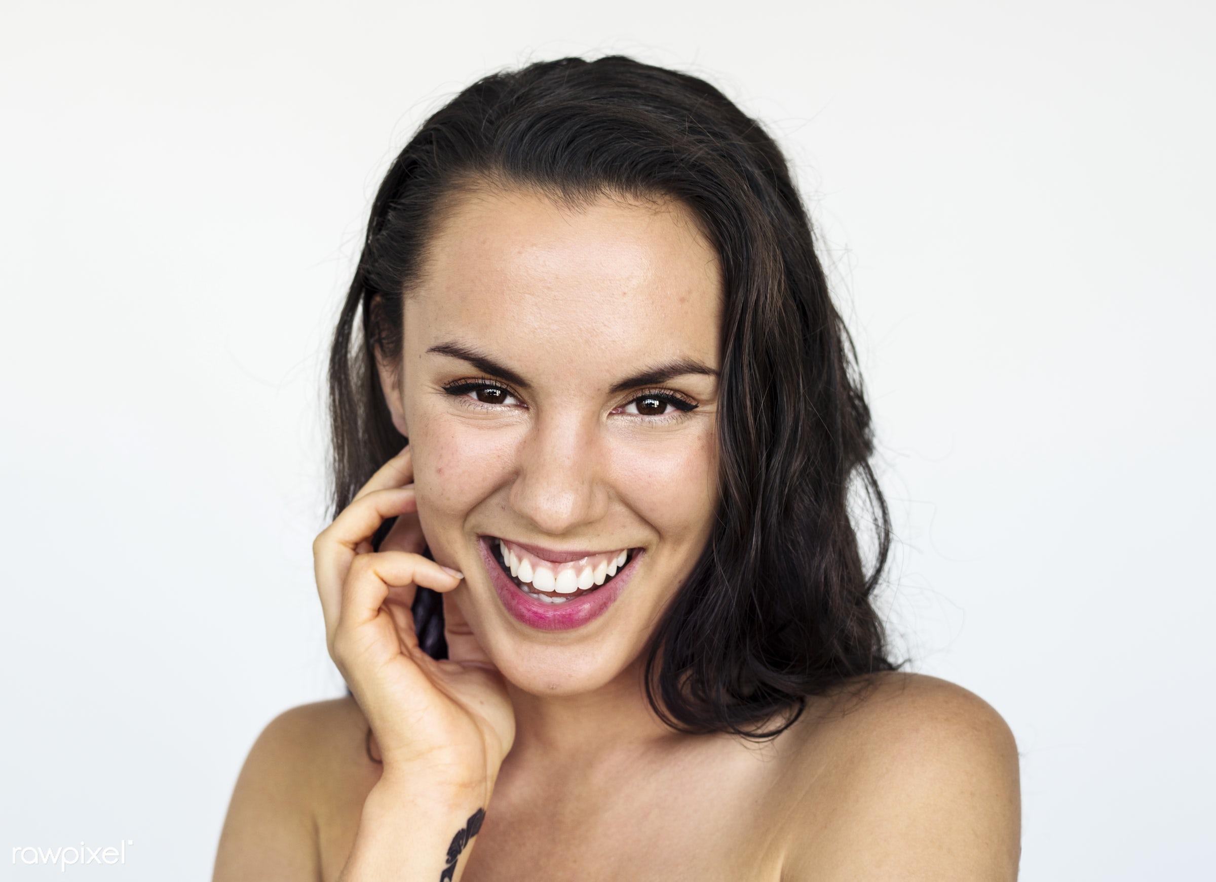 Portrait of a European woman - adult, alone, american, caucasian, cheerful, chic, closeup, content, croatian, europe,...