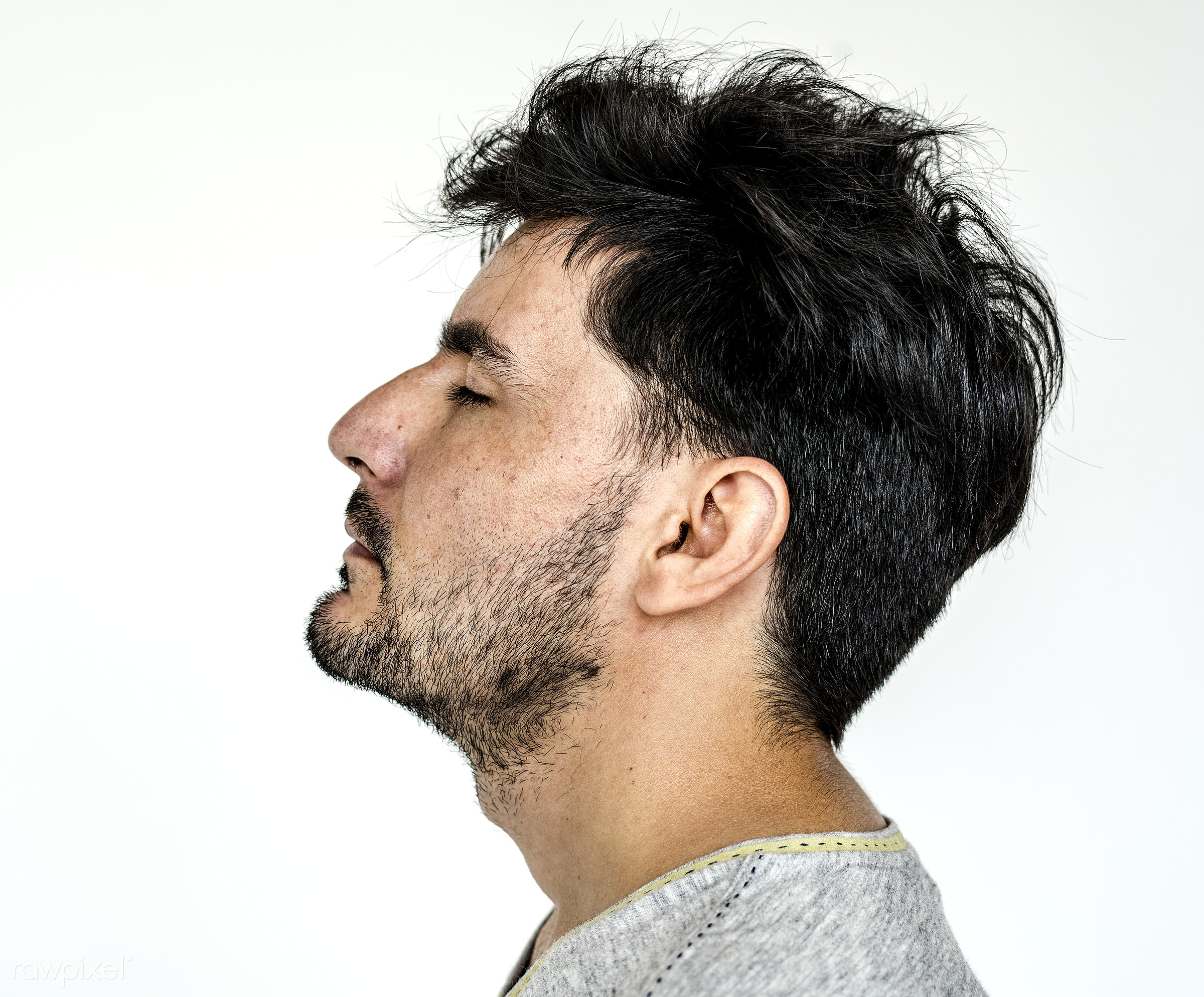Portrait of an Afghan man - thinking, face, profile, think, tired, adult, afghan, afghanistan, alone, asian, beard, bearded...