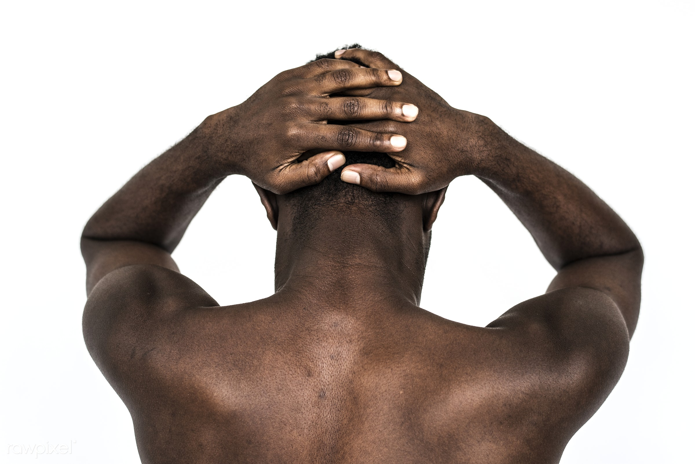 Portrait of a Ghanaian man - ghanaian, unhappy, adult, african, african descent, alone, back, black, closeup, expression,...
