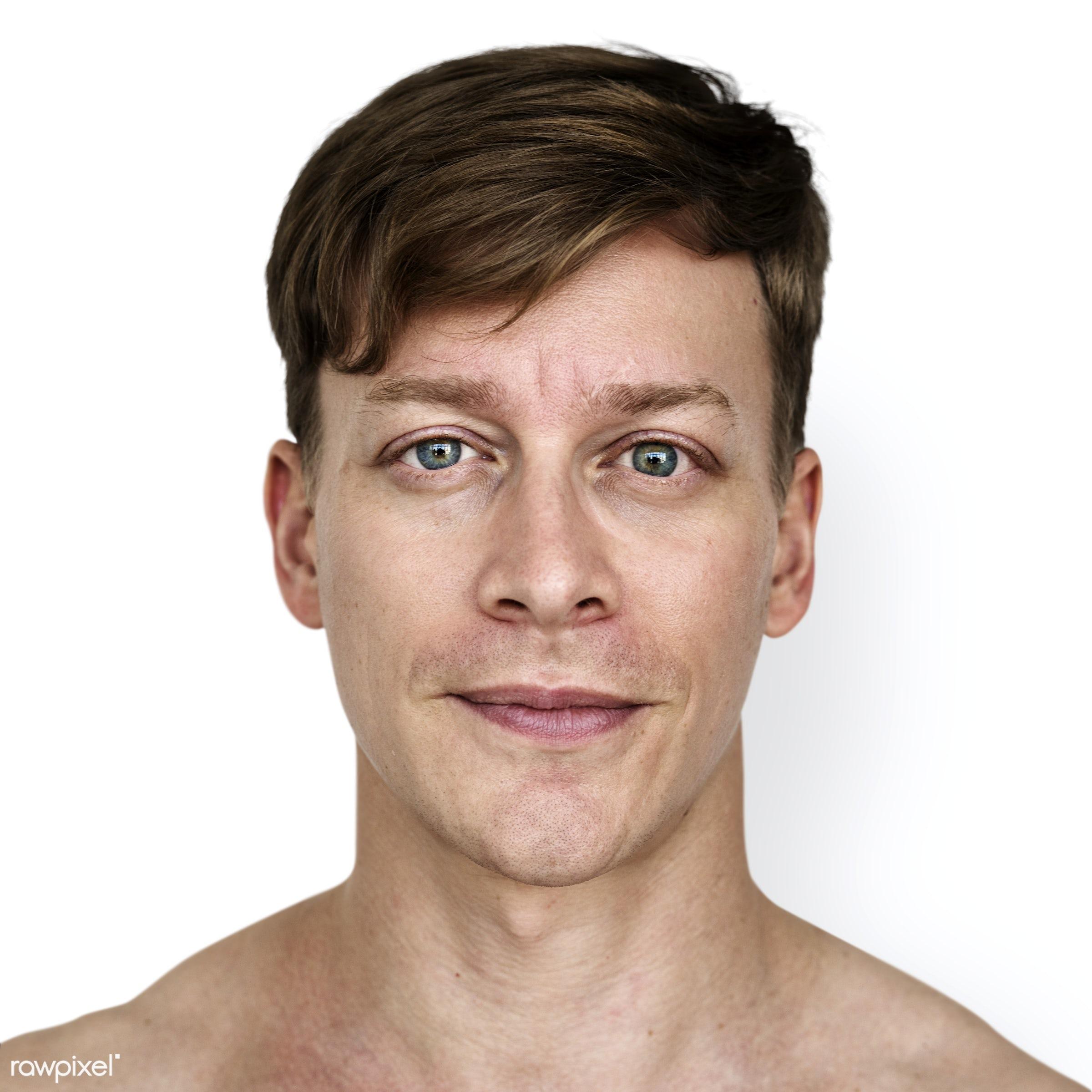 Portrait of an Austrian man - psd, adult, alone, american, austria, austrian, cheerful, closeup, content, europe, european,...
