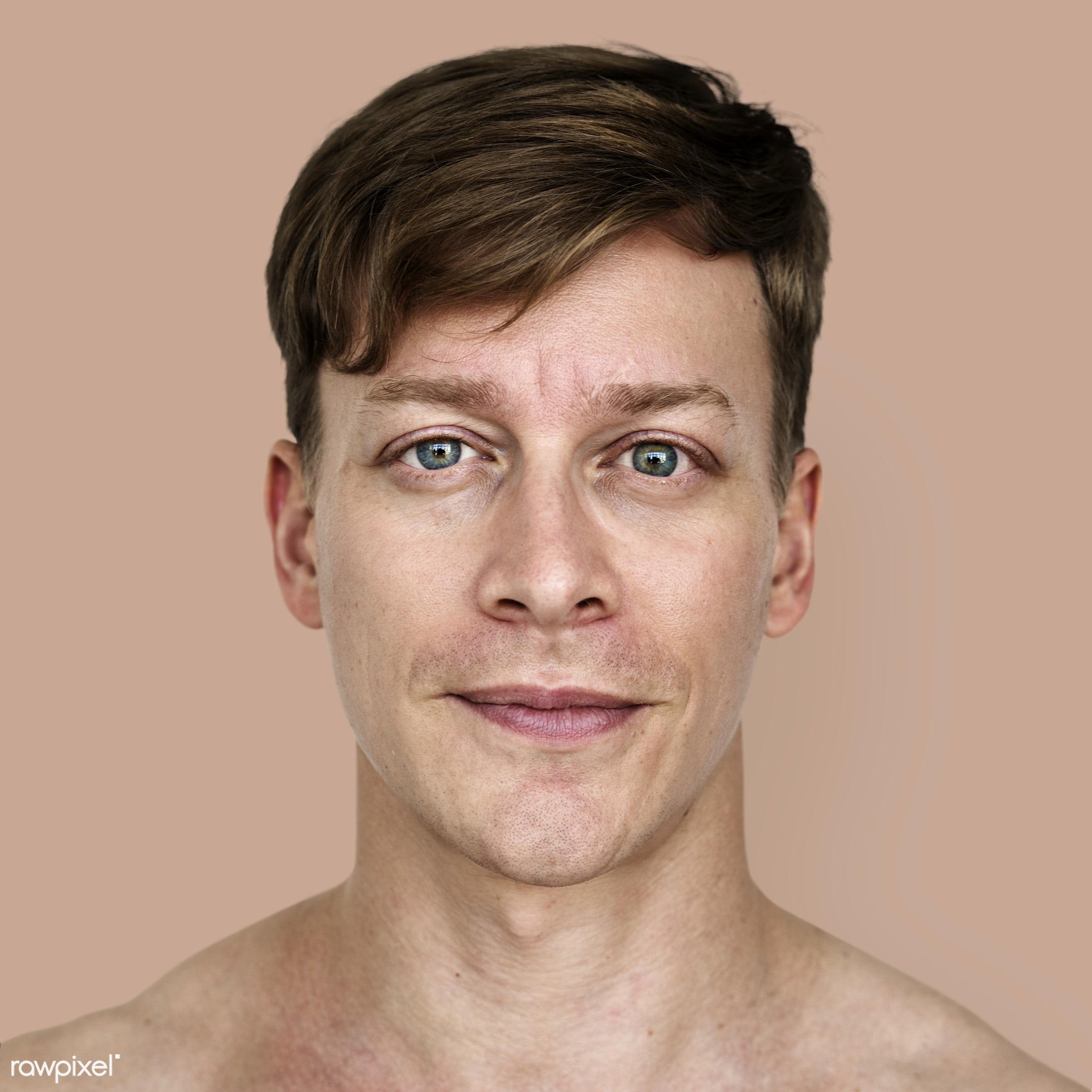 Portrait of an Austrian man - adult, alone, american, austria, austrian, cheerful, closeup, content, europe, european,...