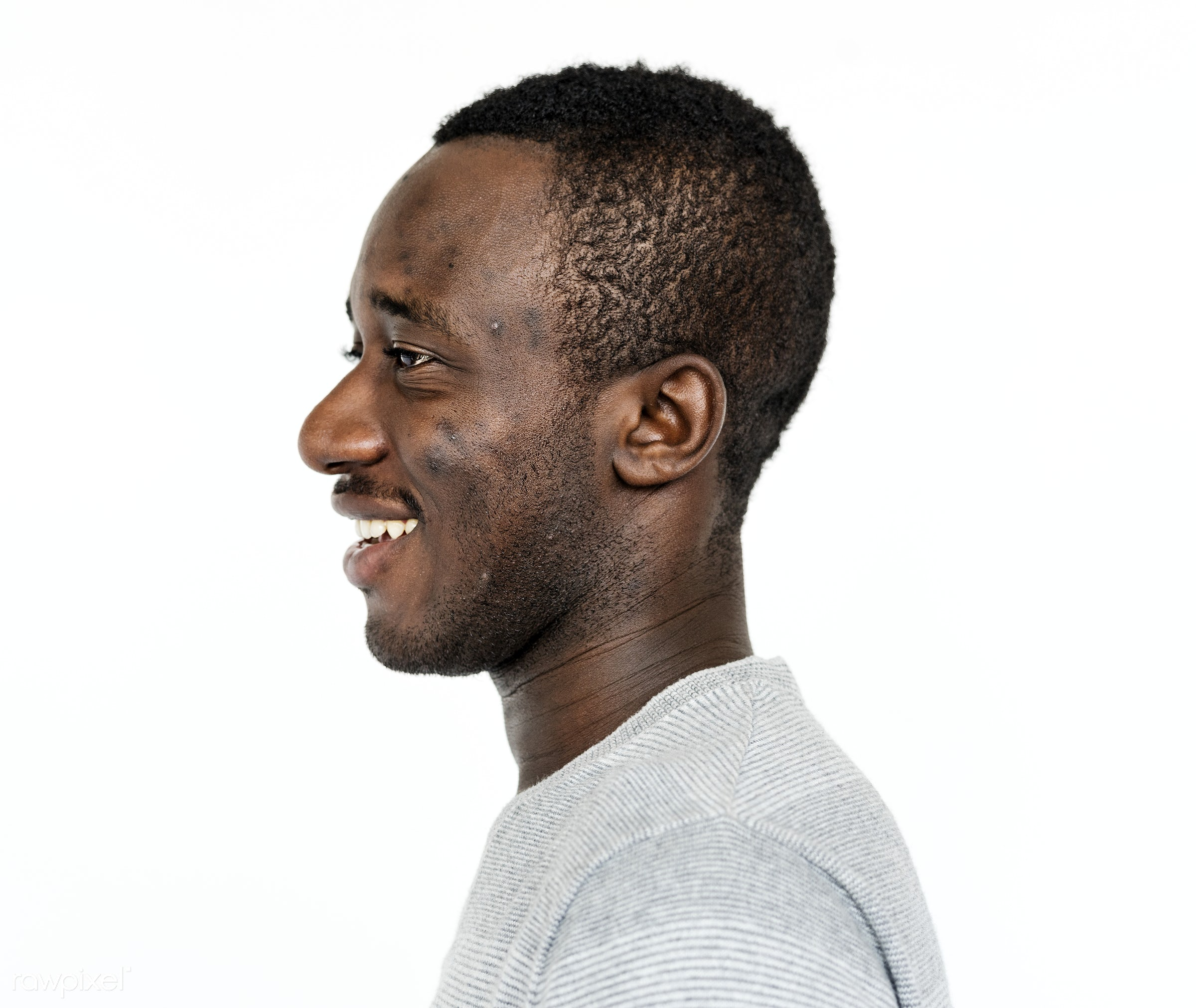 Portrait of a Ghanaian man - adult, africa, african, african descent, alone, beard, black, cheerful, closeup, content,...