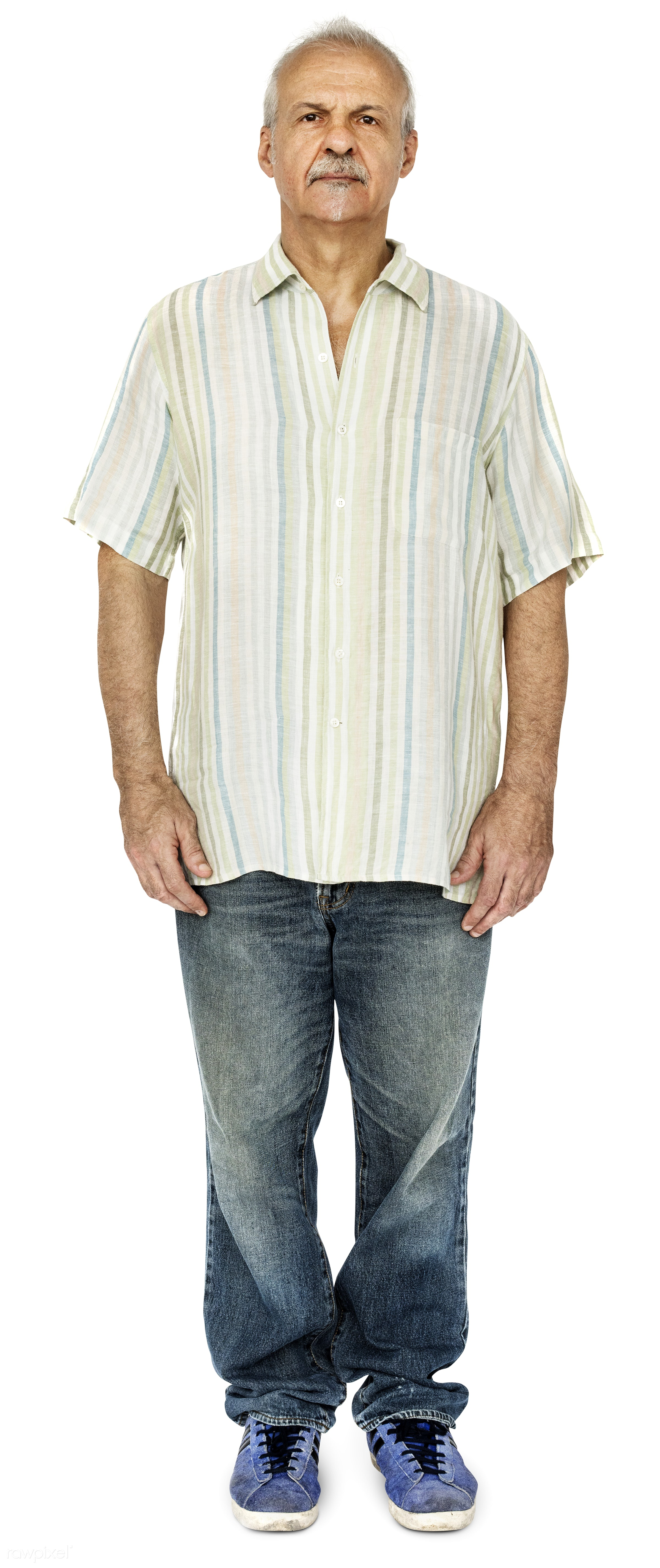 Portrait of a British elderly man - adult, alone, american, britain, british, caucasian, cheerful, closeup, elderly, emotion...