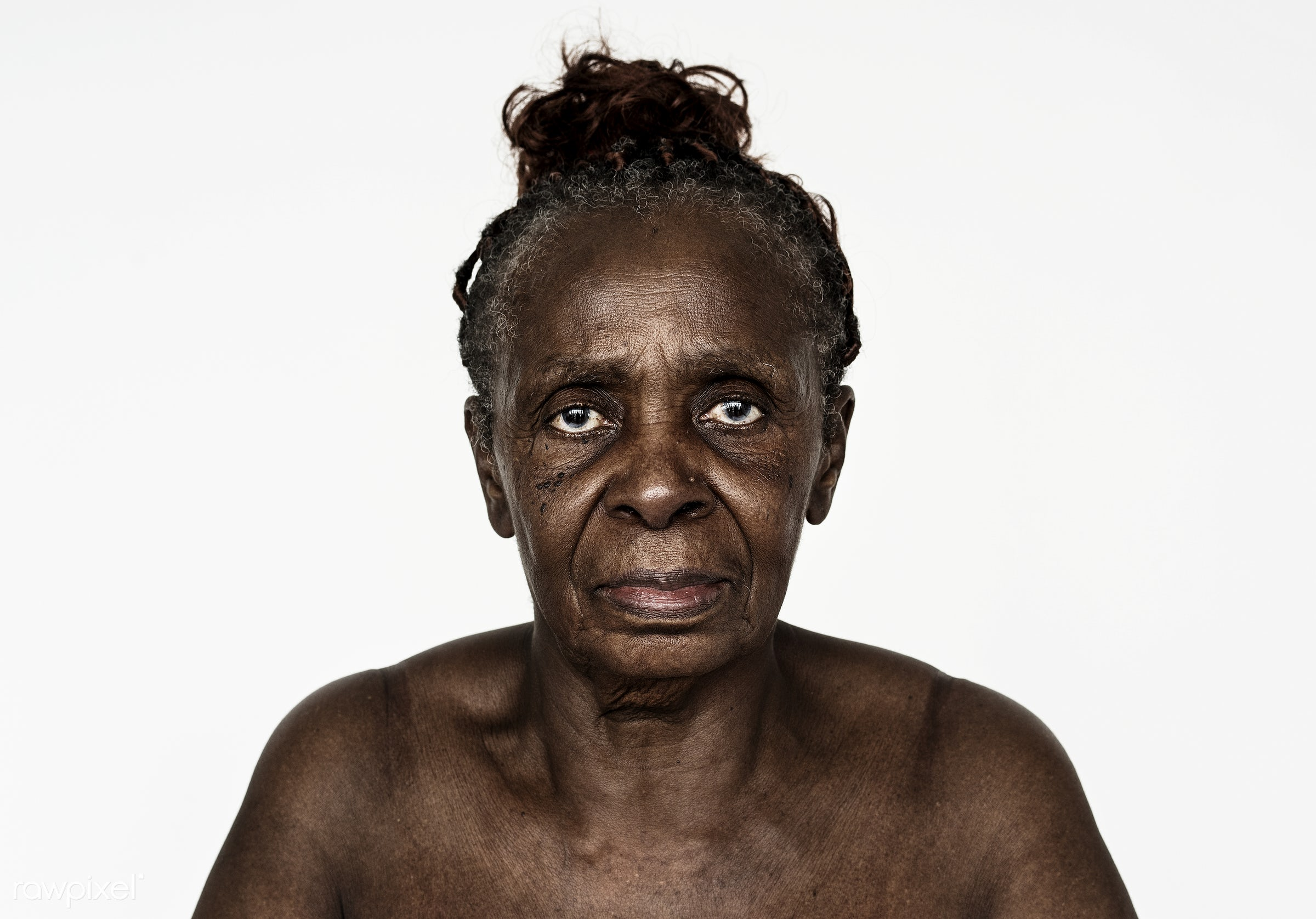 Portrait of a Congolese woman - portrait, woman, african, african descent, black, female, adult, alone, central africa,...