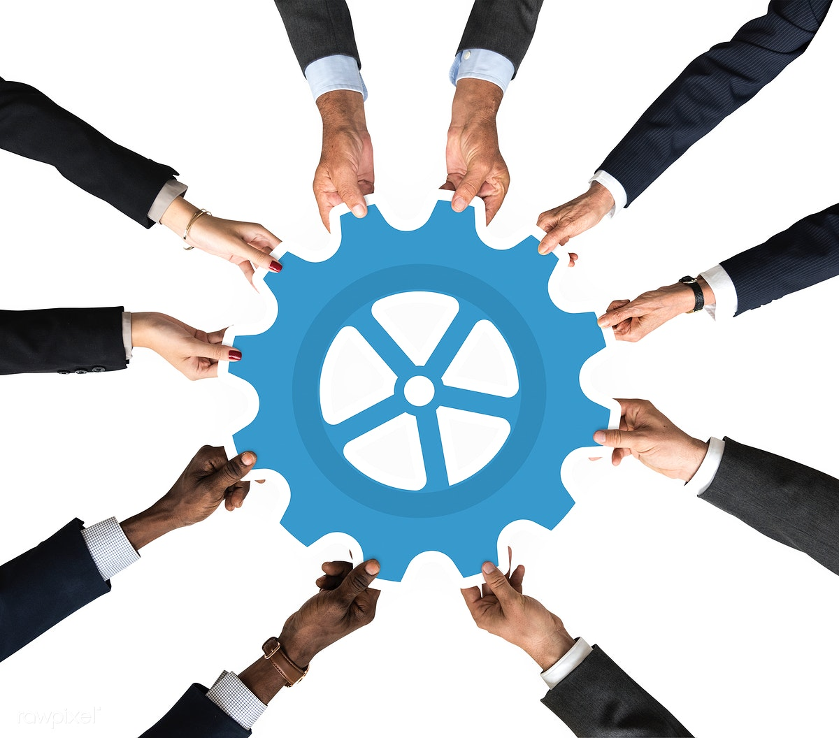 Download premium image of Hand holding a cog icon clipart 536719