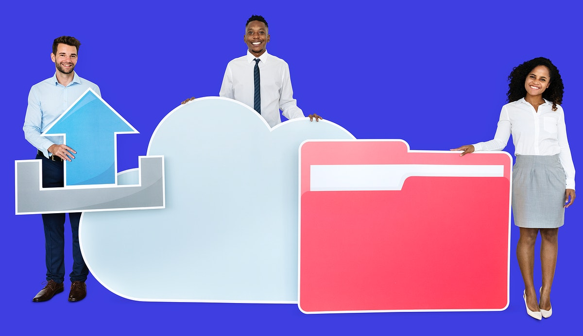 Internet and cloud technology concept shoot