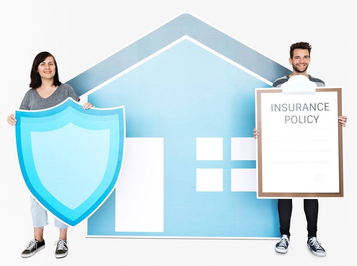 People and home insurance concept