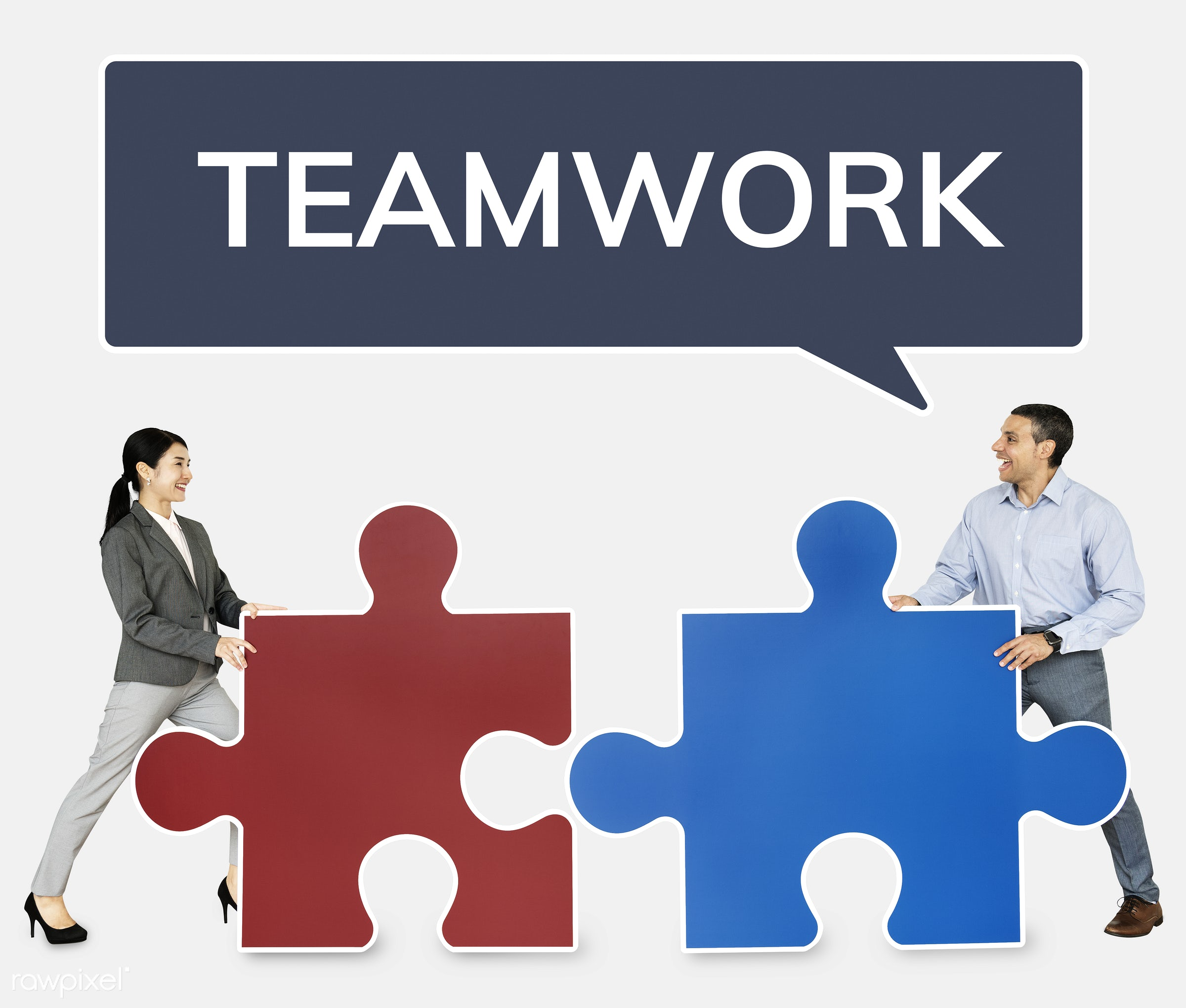 business people connecting jigsaw puzzle pieces id 468217
