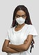 Crossed arms black woman wearing a mask mockup