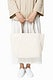 Beige canvas tote bag with design space