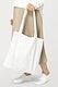 White tote bag psd mockup women's apparel