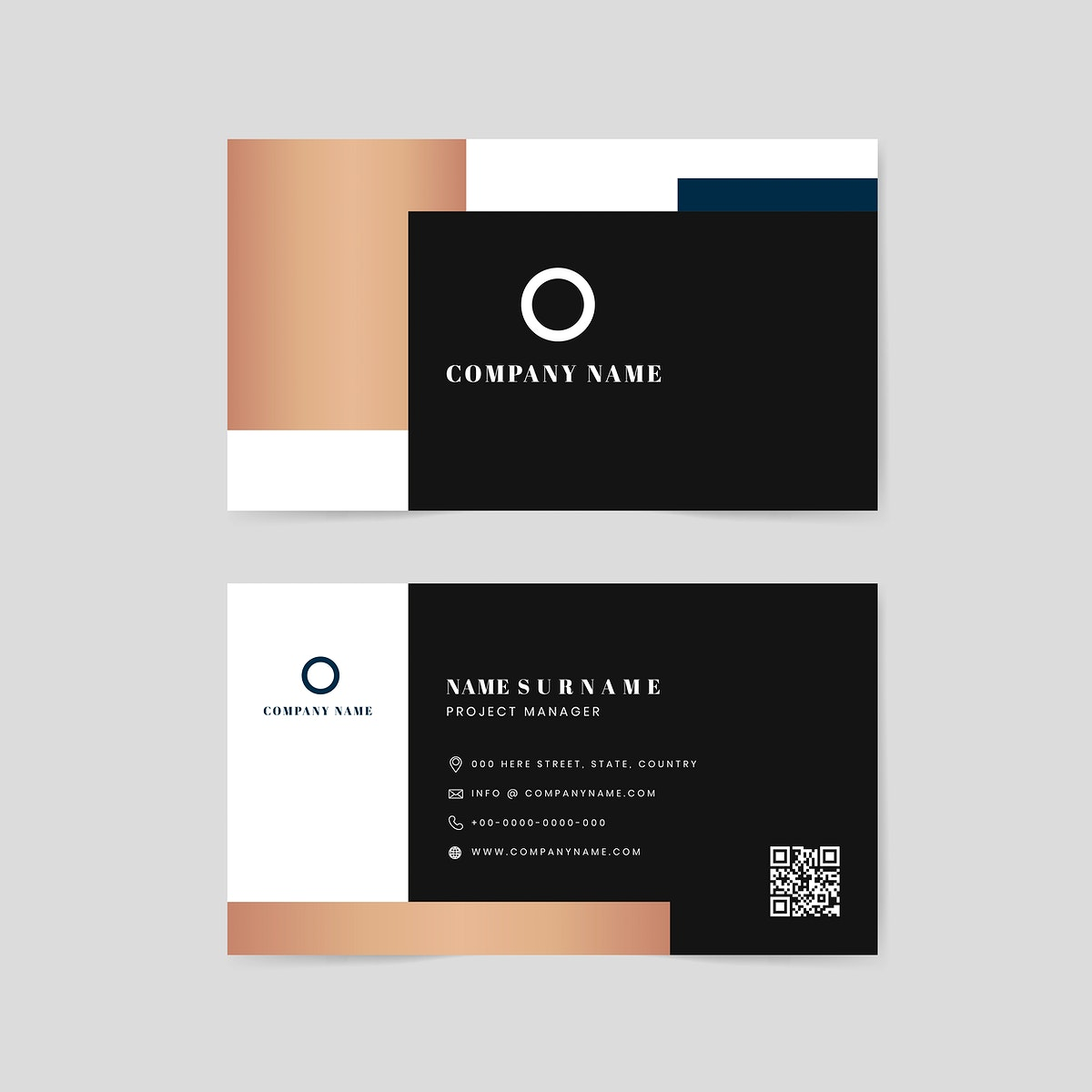 Corporate name card design vector