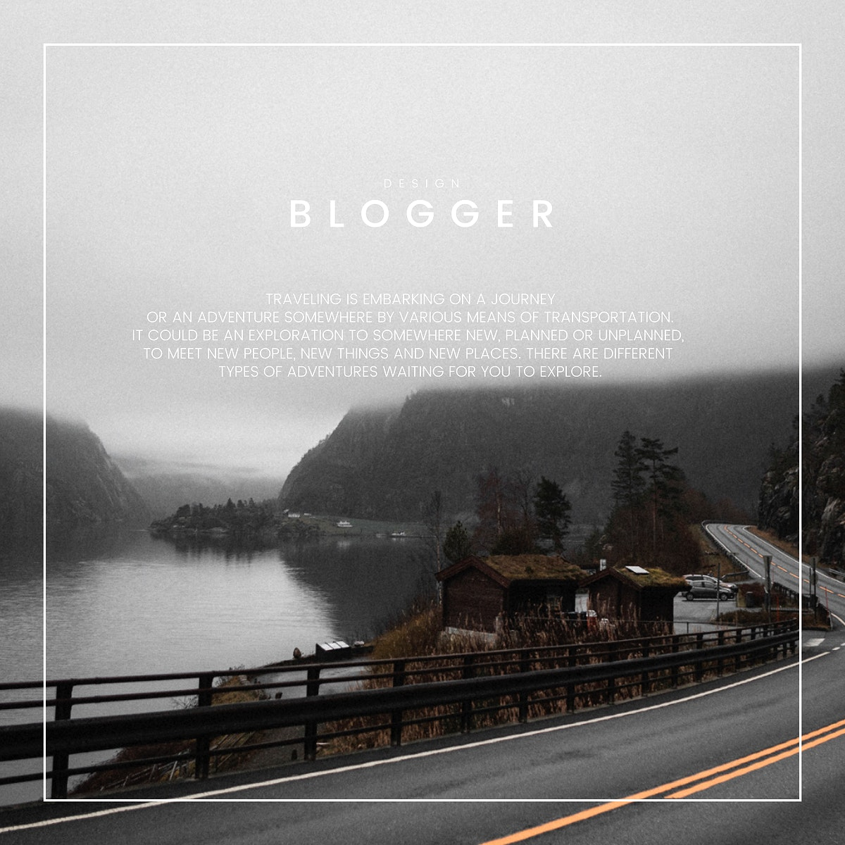 Blog welcome page template design vector