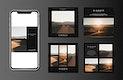 Travel photography blog template design vector