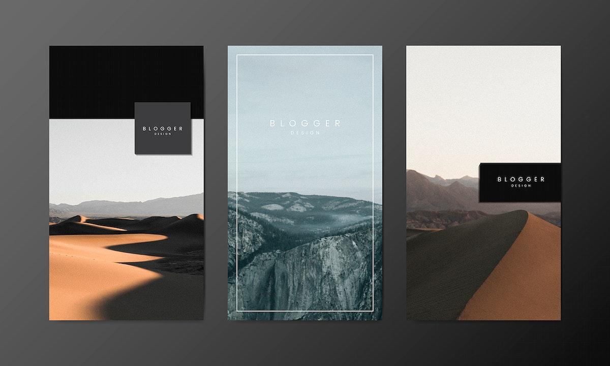 Blog banner template design vectors