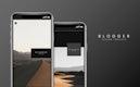 Blog template design on a digital screen vector