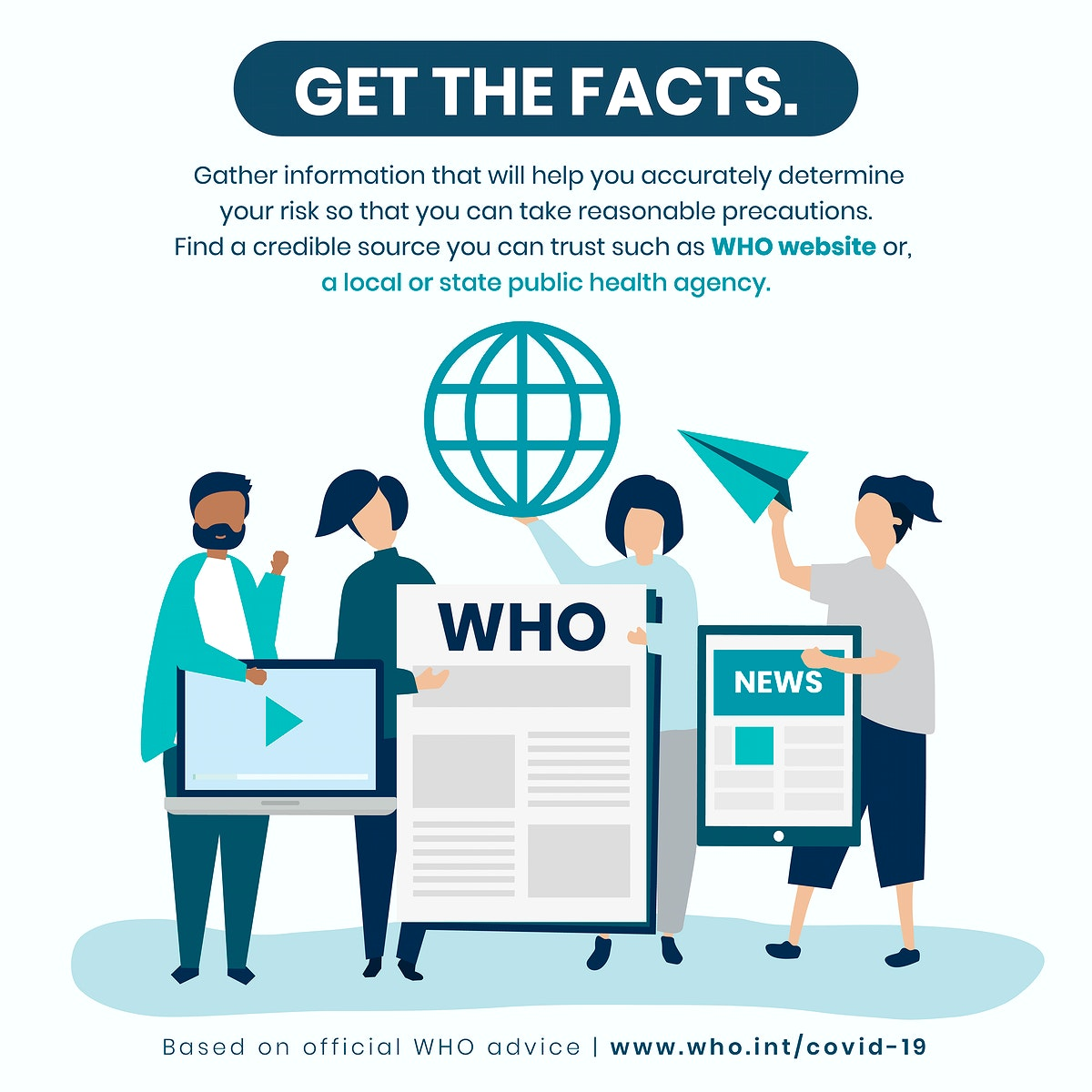 Get the facts during coronavirus social template source WHO